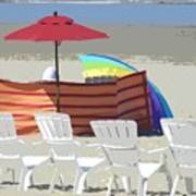 Beach Chairs Art Print by Lori Seaman