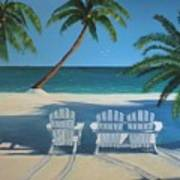 Beach Chairs No. 1 Art Print