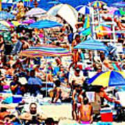Beach Chaos Art Print