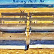 Beach Closed Asbury Park Nj Art Print