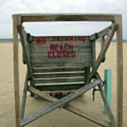 Beach Closed Art Print