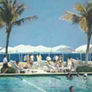 Beach Club Art Print