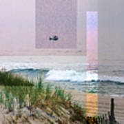 Beach Collage 3 Art Print