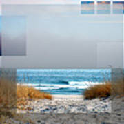 Beach Collage Art Print