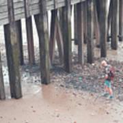 Beach Combing Art Print