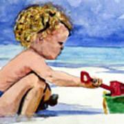 Beach Construction Art Print