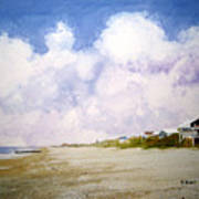 Beach Cottages Art Print