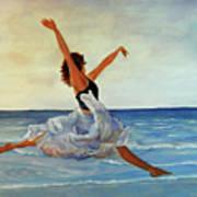 Beach Dancer Art Print