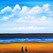 Beach Dogs Art Print