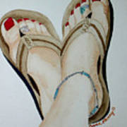 Beach Feet Art Print