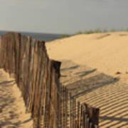 Beach Fence, Cape Cod Art Print