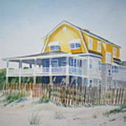 Beach Front At Wrightsville Beach Art Print