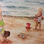 Beach Fun. 1 Art Print