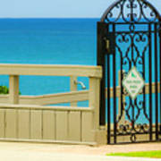 Beach Gate Art Print