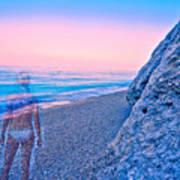 Beach Ghost Art Print
