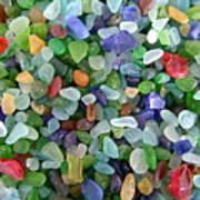 Beach Glass Mix Art Print