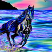Beach Horse Art Print
