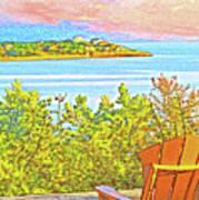 Beach House On The Bay Art Print