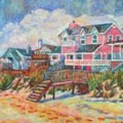 Beach Houses At Pawleys Island Art Print