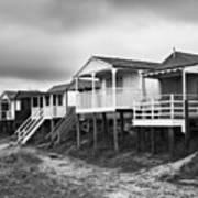Beach Huts North Norfolk Uk Print by John Edwards