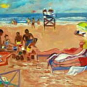 Beach In August Art Print