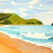 Beach In Brazil Art Print