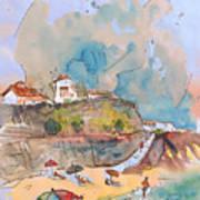 Beach In Ericeira In Portugal Art Print