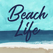 Beach Life- Art By Linda Woods Art Print