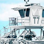 Beach Lifeguard Tower Art Print