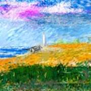 Beach Lighthouse Art Print