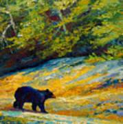 Beach Lunch - Black Bear Art Print