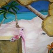 Beach Mural Art Print