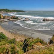 Beach Near Cape Foulwind Art Print