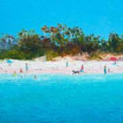 Beach Painting All Summer Long Art Print