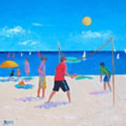 Beach Painting Beach Volleyball  By Jan Matson Art Print