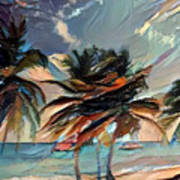 Beach Palms - Multi 9a Art Print