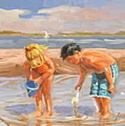 Beach Pals Art Print