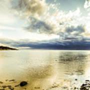 Beach Panorama Of A Sunrise Over The Sea Art Print