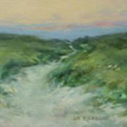 Beach Path At Dusk Art Print