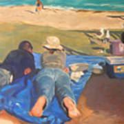 Beach Picnic Art Print