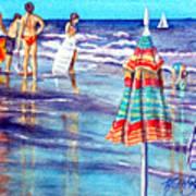 Beach Quintessentials-the Digitals Art Print