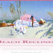 Beach Recliner Poster Art Print