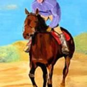 Beach Rider Art Print