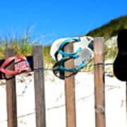 Beach Sandels  Art Print