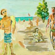 Beach Scence Art Print