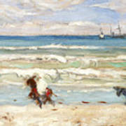 Beach Scene Tangier Art Print