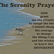 Beach Serenity Prayer Art Print