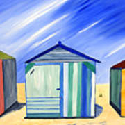 Beach Shacks Art Print