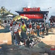 Beach Show Jamaica Art Print