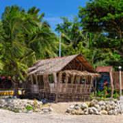 Beach Side Nipa Hut Art Print
